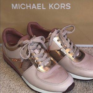 Authentic Michael Kors Rose Gold Tennis Shoes